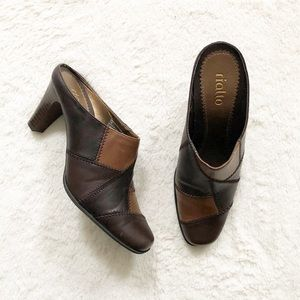 Rialto | Brown 'Patchplace' Mules